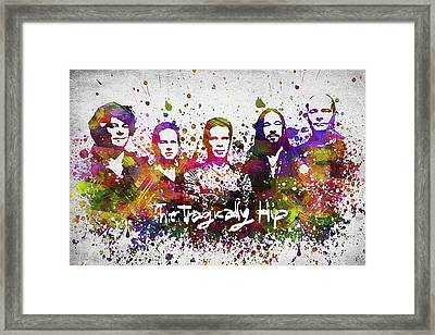 The Tragically Hip In Color Framed Print by Aged Pixel