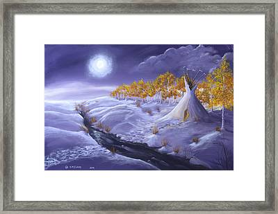 The Trail Home Framed Print by Jerry McElroy