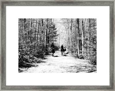 The Trail Ride Framed Print by Susan Leggett
