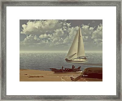 The Treasure Framed Print by Julie Grace