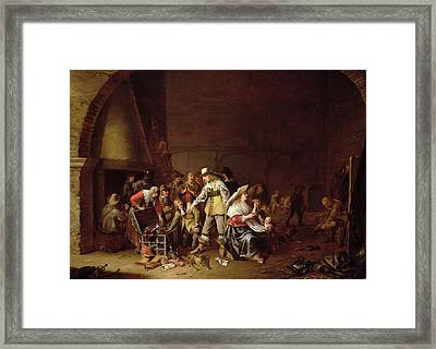 The Treasure Trove Oil On Canvas Framed Print by Anthonie Palamedesz