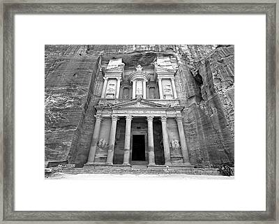 The Treasury At Petra Framed Print by Stephen Stookey