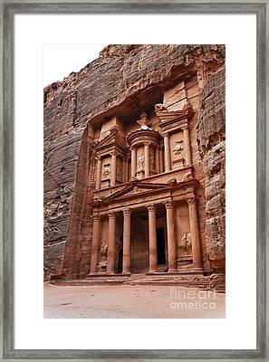The Treasury In Petra Jordan Framed Print by Robert Preston