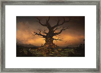 The Tree Framed Print by Cassiopeia Art