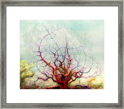 The Tree That Want Framed Print by Bjorn Eek