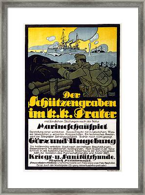 The Trench In The Prater, 1918 Framed Print by Franz Wacik
