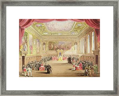 The Trial, Act Iv, Scene I From Charles Framed Print by F. Lloyds