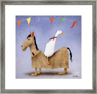 The Trick Rider... Framed Print by Will Bullas