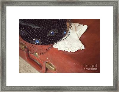 The Trip-the Suitcase Framed Print by Kay Pickens