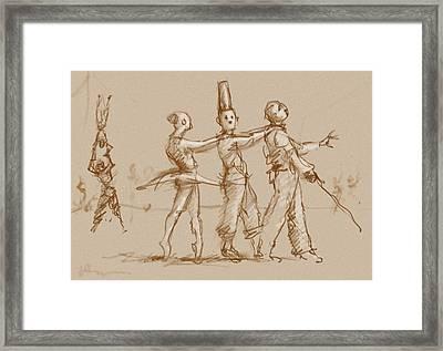 The Triplets Of Ruen Framed Print by H James Hoff