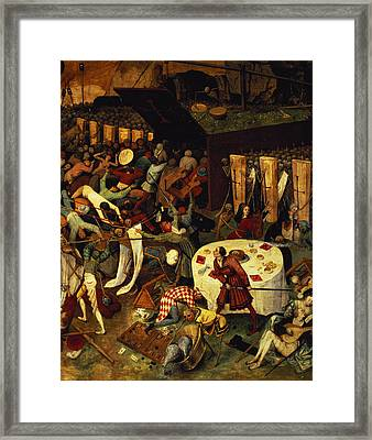 The Triumph Of Death, Detail Of The Lower Right Section, 1562  Framed Print by Pieter the Elder Bruegel