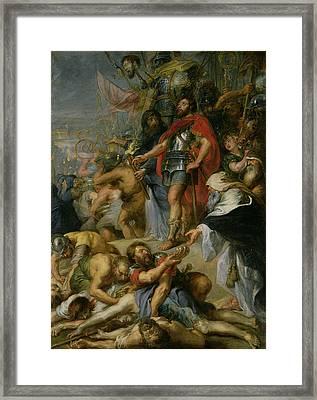 The Triumph Of Judas Maccabeus Framed Print by Peter Paul Rubens
