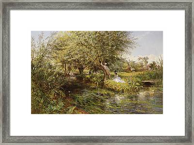 The Trysting Place Framed Print by Charles James Lewis