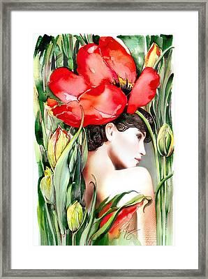 The Tulip Framed Print by Anna Ewa Miarczynska