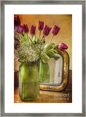 The Tulips Stand Arrayed - A Still Life Framed Print by Terry Rowe