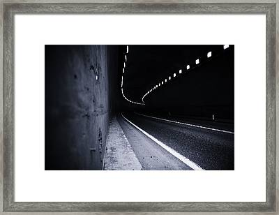 The Tunnel Framed Print by Alex Land