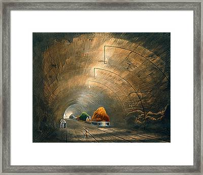 The Tunnel, From Coloured View Framed Print by Thomas Talbot Bury