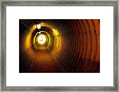 The Tunnel Framed Print by Theresa Tahara