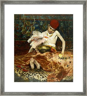 The Turkish Page Unexpected Intrusion Framed Print by William Merritt Chase