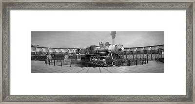 The Turntable And Roundhouse Framed Print by Mike McGlothlen