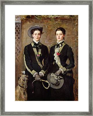 The Twins, Portrait Of Kate Edith Framed Print by Sir John Everett Millais