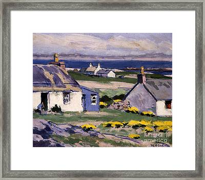 The Two Crofts Framed Print by Francis Campbell Boileau Cadell