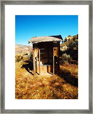 The Two Holer Framed Print by Joshua House