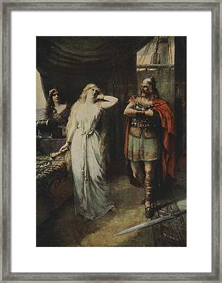 The Two Stood Silent Looking At Each Framed Print by Ferdinand Leeke