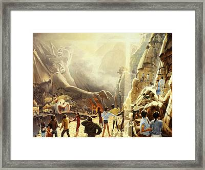 The Two Ways Framed Print by Graham Braddock