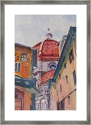 The Ultimate Alley View Framed Print by Jenny Armitage