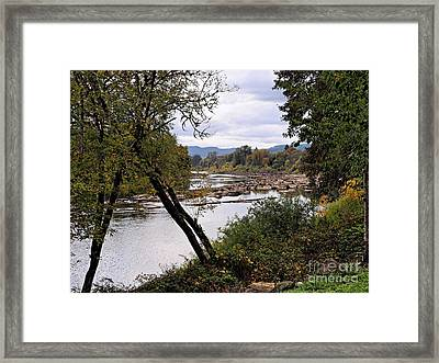 The Umpqua River Framed Print by   FLJohnson Photography