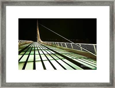 The Unique And Beautiful Sundial Bridge In Redding California. Framed Print by Jamie Pham