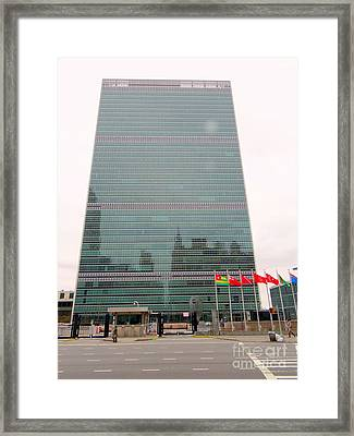 The United Nations Framed Print by Ed Weidman