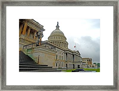 The United States Capitol Framed Print by Jim Fitzpatrick