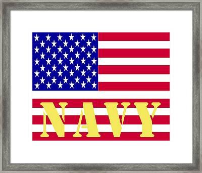 The United States Navy Framed Print by Barbara Snyder