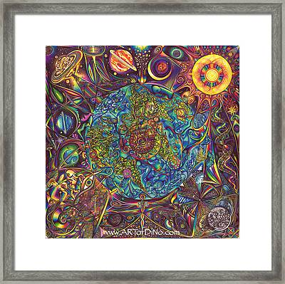 the UNIVERSE mandala Framed Print by DiNo