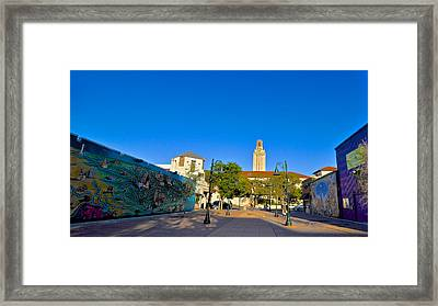 The University Of Texas Tower Framed Print by Kristina Deane