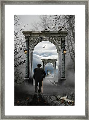 The Unknown Framed Print by Leyla Emektar La_
