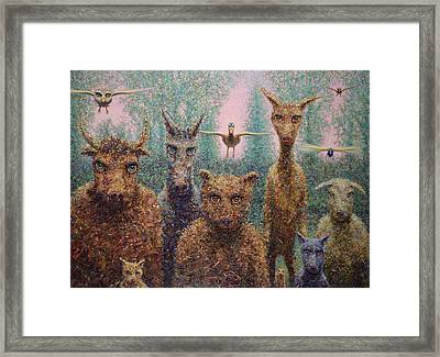 The Untamed Framed Print by James W Johnson