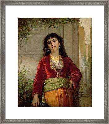 The Unwelcome Companion , C.1872-73 Framed Print by John William Waterhouse