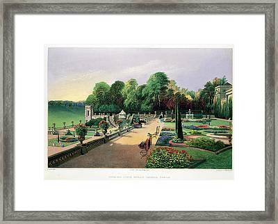 The Upper And Lower Terrace Gardens Framed Print by E. Adveno Brooke