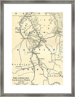 The Upper Nile Framed Print by English School