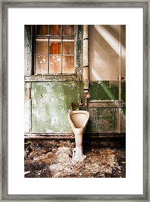 The Urinal Framed Print by Gary Heller