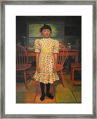 The Valentine Dress Framed Print by Thu Nguyen