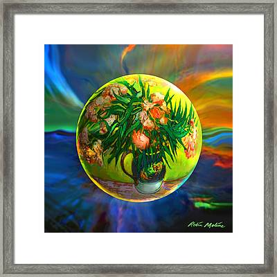 The Van Gloughing Vase Framed Print by Robin Moline