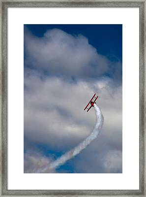 The Vapor Trail Framed Print by David Patterson