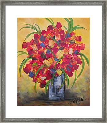 The Vase Framed Print by Molly Roberts