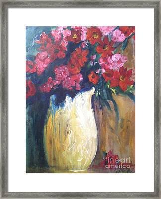 The Vase Framed Print by Sherry Harradence