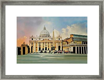 The Vatican Rome Framed Print by Diana Angstadt