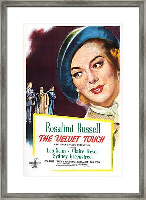 The Velvet Touch, Us Poster, From Left Framed Print by Everett